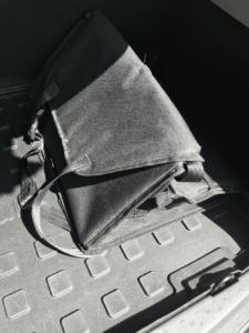 トランクに収納したドライブボックス