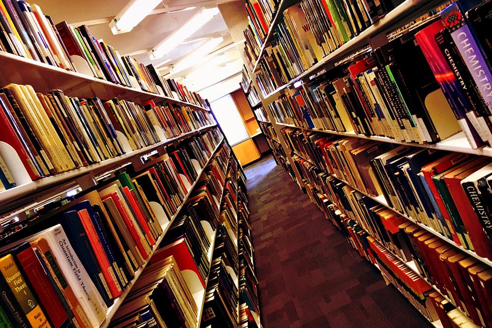 本がたくさんの書棚