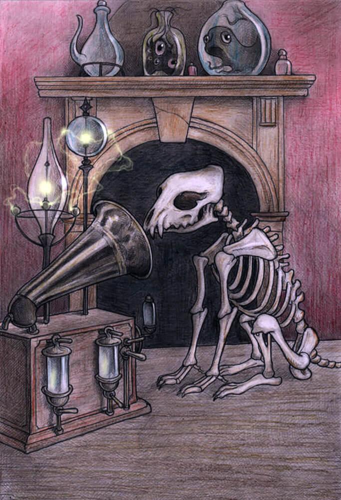 骸骨になっても主人の声を聞く