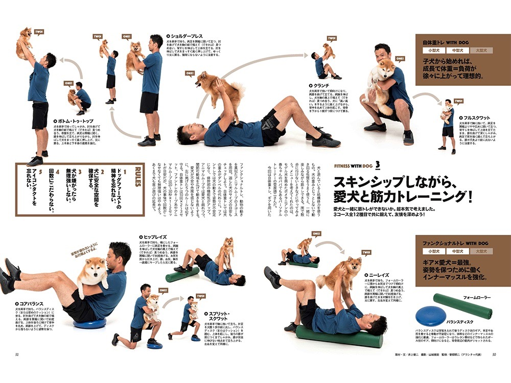 犬と筋力トレーニング