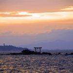 森戸海岸 夕日