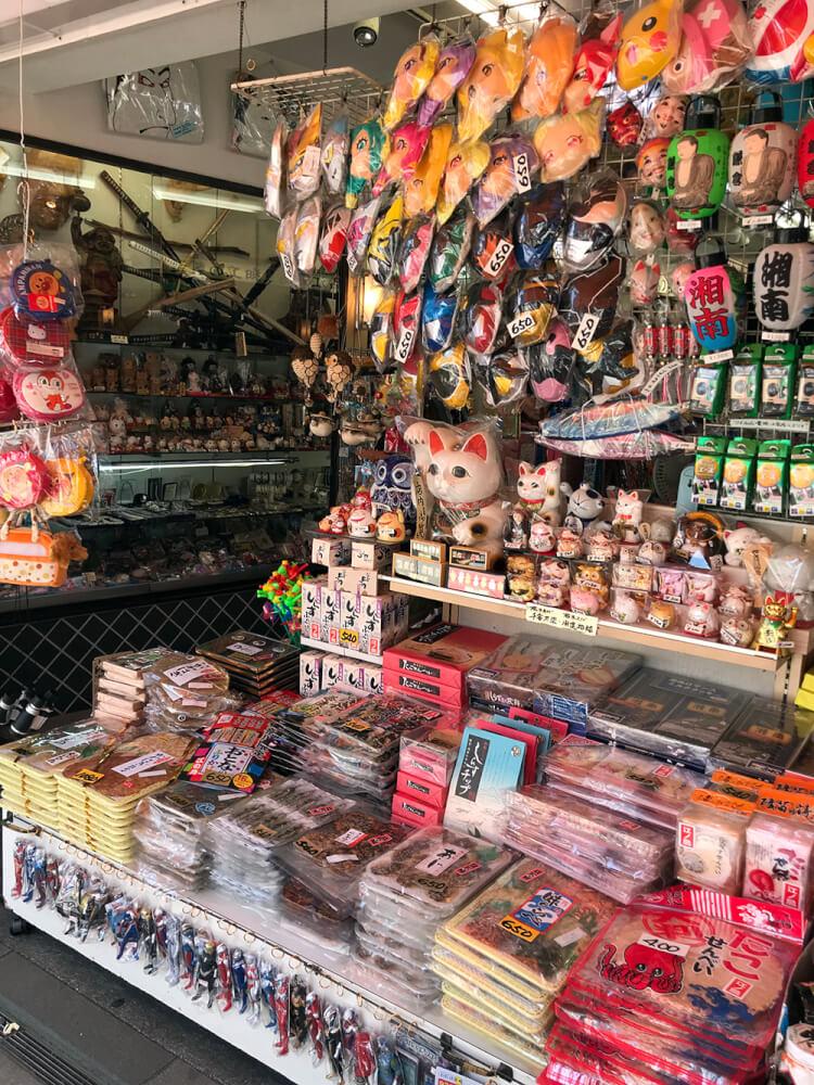 江ノ島の昔懐かしい店舗