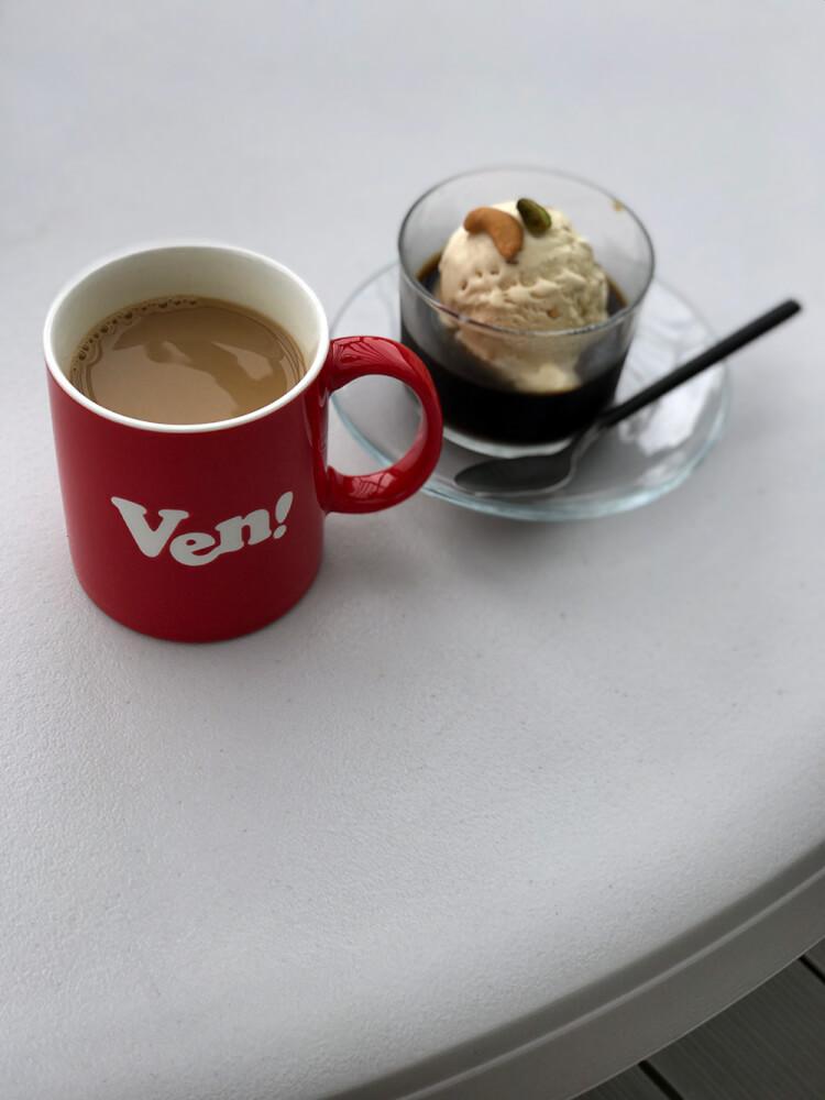 コーヒーゼリーとカフェオレ