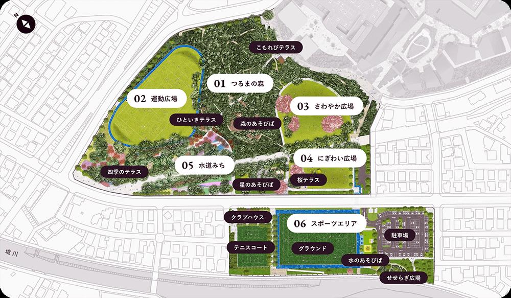 鶴間公園マップ