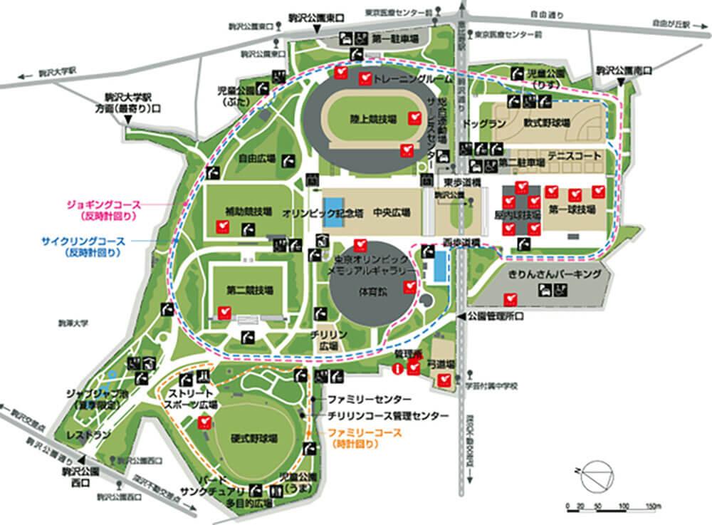 駒沢公園マップ